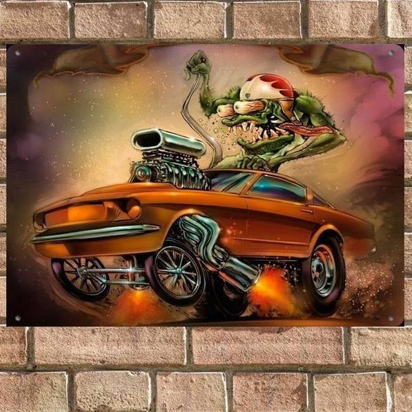 Chopper tattoo car`s rock`n`roll