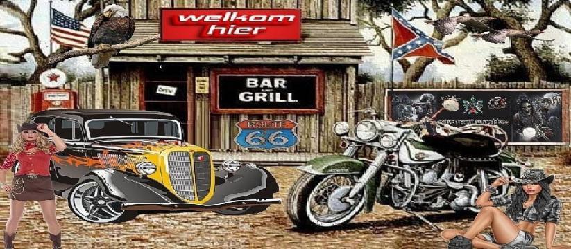 Chopper tattoo car`s rock`n`roll
